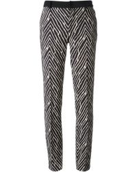Emanuel Ungaro Printed Slim Trousers - Lyst