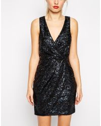 Oasis Plunge Neck All Over Sequin Dress - Lyst