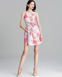 Tracy Reese Dress Sleeveless Hawaiian Floral Print Fit and Flare - Lyst
