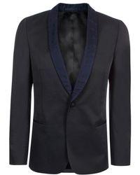 Paul Smith | Men's Black Wool-blend Contrast-lapel Blazer | Lyst