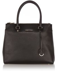 Karen Millen Texture Leather Big Bag - Lyst