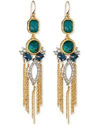 Alexis Bittar Chrysocolla & Crystal Tassel Earrings - Lyst