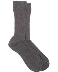 Maria La Rosa Steel Grey Socks - Lyst