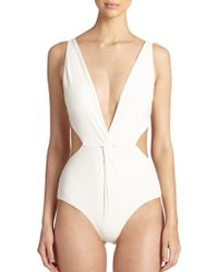 Mara Hoffman One-Piece Front-Twist Swimsuit - Lyst