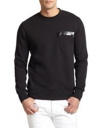 Diesel Black Gold Stretch Cotton Pocket Sweatshirt - Lyst