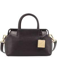 B Brian Atwood - Sandra Mini Leather Satchel Bag - Lyst