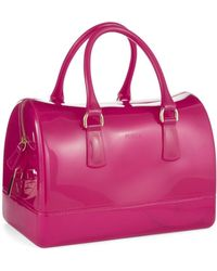 Furla Jelly Rubber Satchel - Lyst