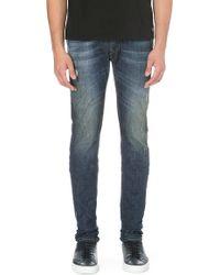 Diesel Sleenker Skinny Mid-rise Stretch-denim Jeans Blue - Lyst