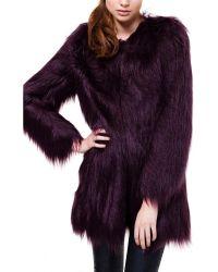 Unreal Fur Wanderlust Wine Faux Fur Coat - Lyst