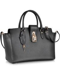 Patrizia Pepe Saffiano Leather Bowling Bag - Lyst