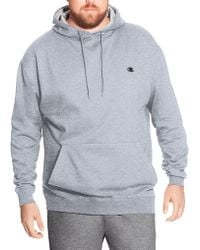 Champion - Big & Tall Pullover Fleece Hoodie With Contrast Liner - Lyst
