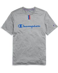 89729642fe11 Champion Core Script T-shirt in Blue for Men - Lyst