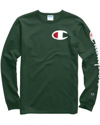 50919ae5e Champion Big & Tall Cotton Long-sleeve Graphic Tee in White for Men ...
