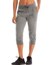998f6a671fd0 Lyst - Hollister Logo Graphic Banded Boyfriend Sweatpants in Gray