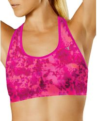 971ebe785e72e Lyst - Champion The Absolute Comfort Print Sports Bra in Blue
