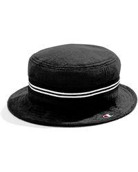 70aa035762e Lyst - Stussy Terry Stock Lock Bucket Hat in Black for Men