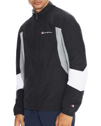 8edd059dc09b Lyst - Champion Sherpa Lined Coaches Jacket in Black for Men