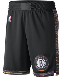9b388ec58c2 Nike Detroit Pistons City Edition Swingman Nba Shorts in Black for ...