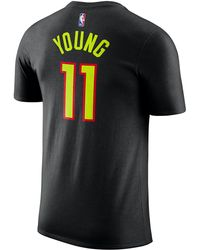 755ae43e5b6 Nike Trae Young Nba Swingman Jersey in Black for Men - Save 19% - Lyst