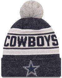 9f7f95cac KTZ Dallas Cowboys Trapskin Knit Hat in Gray for Men - Lyst