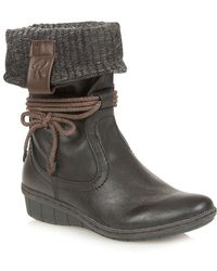 Lotus - Niata Womens Fold Down Ankle Boots - Lyst