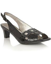 Lotus - Zabry Womens Sling Back Sandals Women's Sandals In Black - Lyst