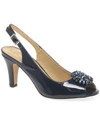 Lotus - Elodie Womens Slingback Peep Toe Shoes - Lyst