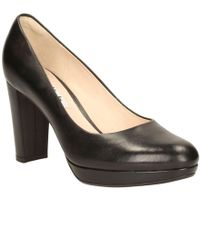 Clarks - Kendra Sienna Womens Wide Court Shoes - Lyst