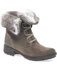 Josef Seibel - Sally Fur Lined Womens Ankle Boots - Lyst