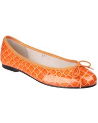 French Sole - Henrietta Womens Orange Ballet Court Shoes - Lyst
