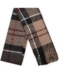Barbour - Tartan Boucle Large Winter Tartan Fringe Scarf - Lyst