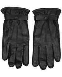 Barbour - Burnished Classic Black Leather Thinsulate Gloves - Lyst