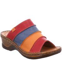 Josef Seibel - Multi Coloured Leather 'catalonia 64' Mid Heeled Mules - Lyst
