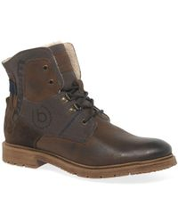 Bugatti - Shake Mens Leather Lace Up Boots - Lyst