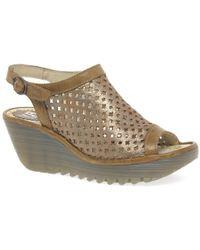 e98fcf08550f Fly London - Yuti Womens Wedge Heel Sandals - Lyst