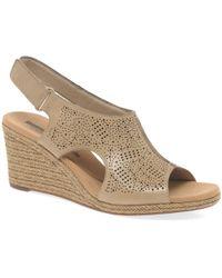 Clarks - Lafley Rosen Womens Wedge Heel Sandals - Lyst