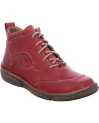 cheap best seller Red leather 'neele 34' womens ankle boots clearance 2015 new outlet sale NTXdXwyqY