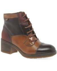 Pikolinos | Paris Womens Leather Ankle Boots | Lyst