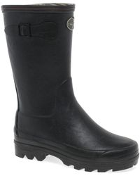 Le Chameau - Giverny Botillon Womens Black Rubber Low Wellington Boots - Lyst
