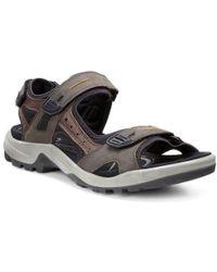 Ecco - Yucatan Mens Velcro Fastening Sandals - Lyst