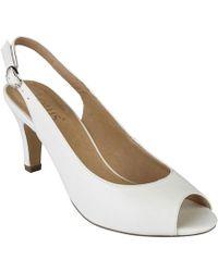 Lotus - Sommer Womens Peep Toe Sling Back Shoes - Lyst