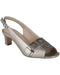 Lotus - Aubrey Womens Peep Toe Sling Back Shoes - Lyst