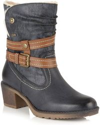 Lotus - Mallory Womens Calf Length Boots - Lyst