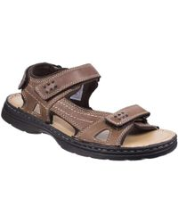 095644f1c32 Hush Puppies Spartan Velcro Strap Sandal in Brown for Men - Lyst