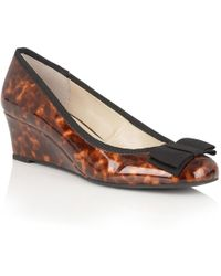 Lotus - Rea Womens Wedge Heel Court Shoes - Lyst