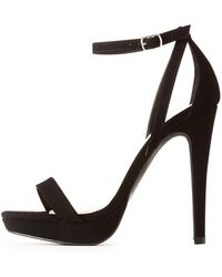 56bd9899e81 Charlotte Russe - Wide Width Ankle Strap Dress Sandals - Lyst