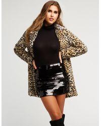 Charlotte Russe - Circle Sequin Mini Skirt - Lyst