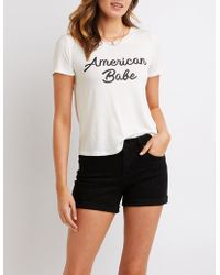 Charlotte Russe - American Babe Graphic Tee - Lyst