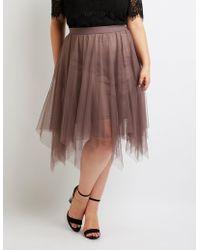 713414b759 Lyst - Charlotte Russe Tulle Full Midi Skirt in Pink