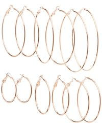 Charlotte Russe - Hoop Earrings - 6 Pack - Lyst
